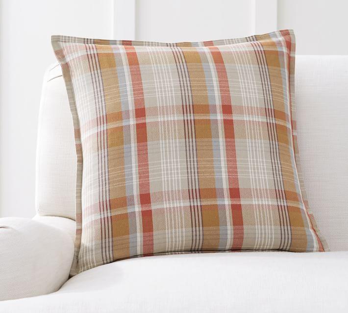 Pumpkin Plaid Pillow Covers