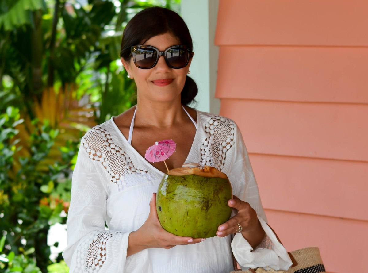 WHITE TUNIC COVER-UP IN BELIZE