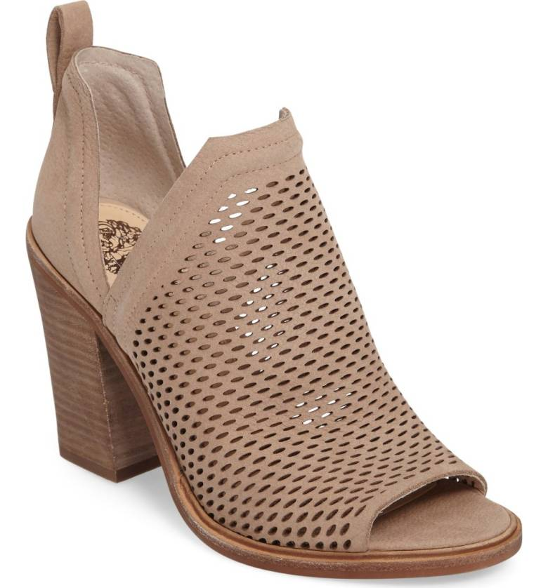 perforated peep toe booties for fall