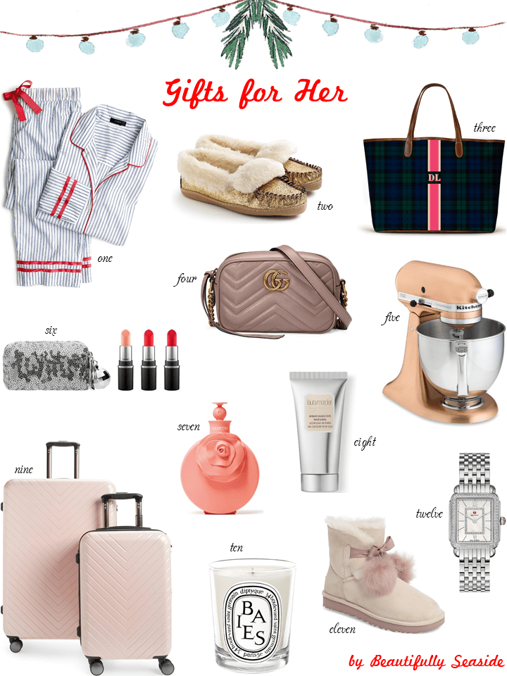 Beautifully Seaside Christmas Gift Guide for her 2017