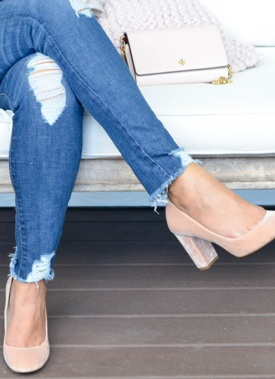 BLUSH SHOES FOR THE HOLIDAYS
