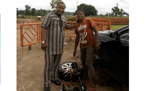 Meet Blessing A Female Mechanic Holding Down In Abuja