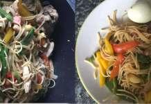 Spaghetti stir fry