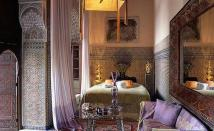 moroccan-inspired-bedroom-mediterranean-bedroom-chic-bedroom-with-antique-furniture-awesome-moroccan-mediterranean-madness-luxury-design-brown-color-amazing-curtain-arm-chair-wooden-wonderfu