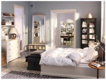 Storage Ideas for Small Bedrooms CLassic Motives Carpet White Drawers Beautiful Sitting Lamp