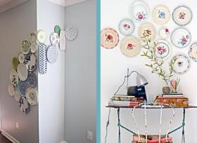 wall-plates-decorating-ideas-astonishing-wall-decoration-for-living-room-areas-with-black-and-white-decorative-plates-inlcuding-zebra-patterned-plates-hang-on-wall-and-white-rectangular-lampsh
