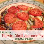Quick & Easy: Burrito Shell Pizza