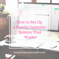 How to Setup a Family Calendar System that Works