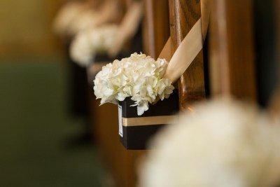 White Ceremony Aisle Wedding Flowers