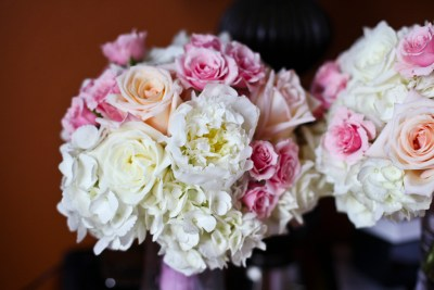 Pink, White and Peach Pastel Wedding Bouquet