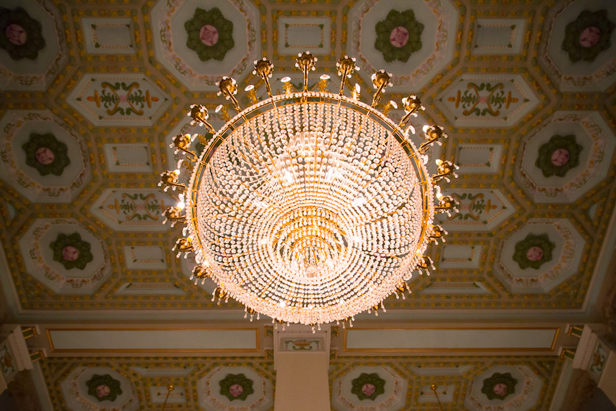 Gold, Crystal Chandelier | Tampa Wedding Venue The Floridan Palace