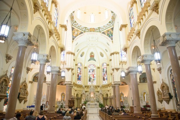 Tampa Wedding Ceremony   Downtown Tampa Wedding Sacred Heart Catholic Church