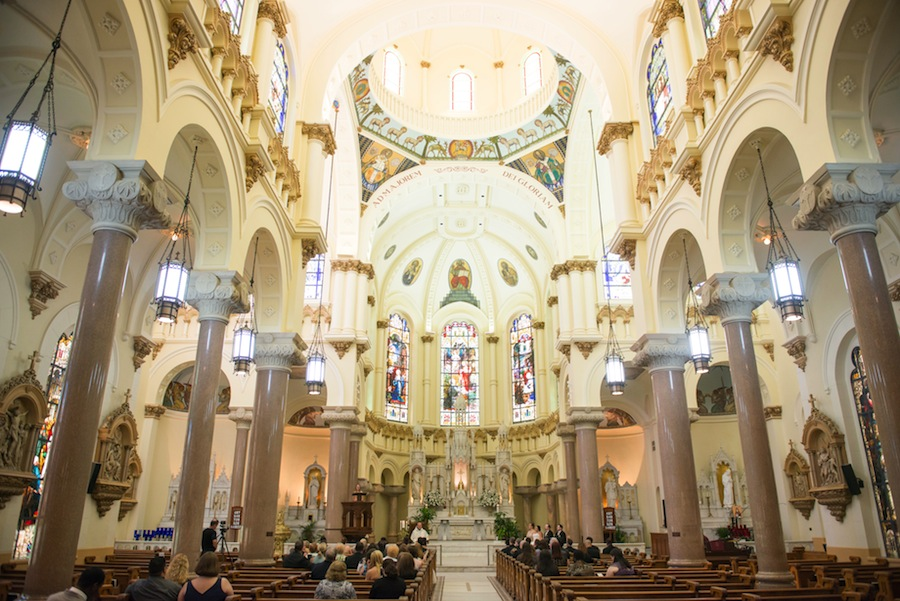 Tampa Wedding Ceremony | Downtown Tampa Wedding Sacred Heart Catholic Church