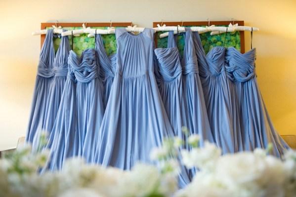 Blue, Periwinkle Flowing Bridesmaid Dresses