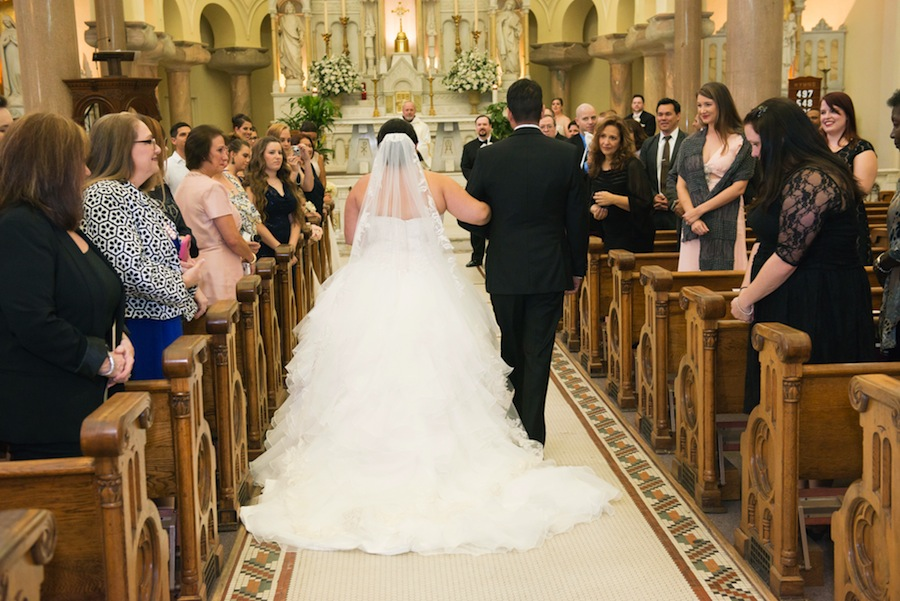 Downtown Tampa Wedding Ceremony at Sacred Heart Catholic Church | Wedding Ceremony Décor and Flowers by Northside Florist