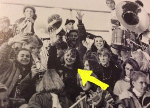 There I am with the pep band. Apparently I have no pictures of me ACTUALLY playing. You'll just have to trust that I did.