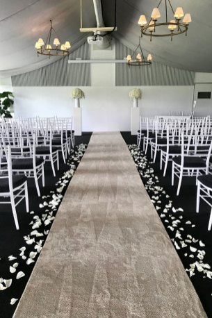 Victoria-Park-garden-marquee-indoor-ceremony-white-podiums-floral-toppers