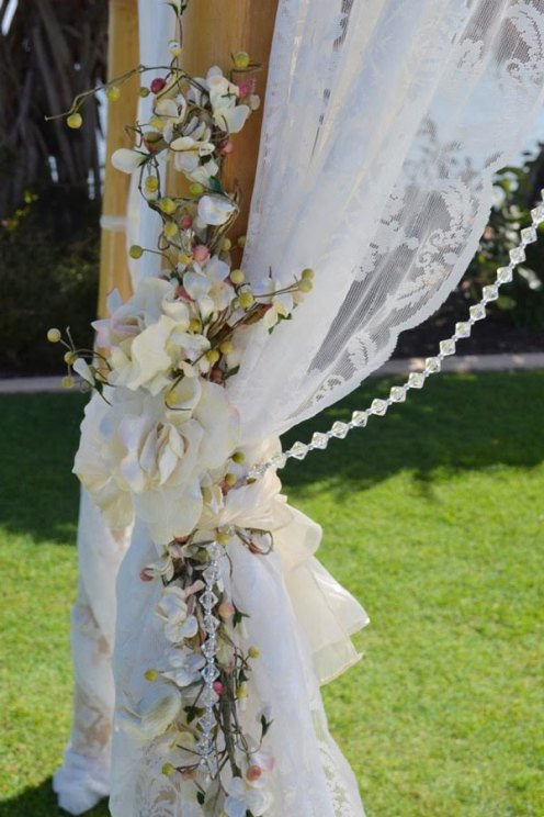 Lace and Flowers - Arbour Dressing