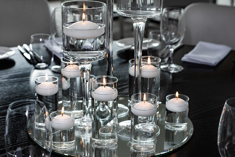 blackbird-wedding-reception-styling-floating-candle-guest-table-centrepiece