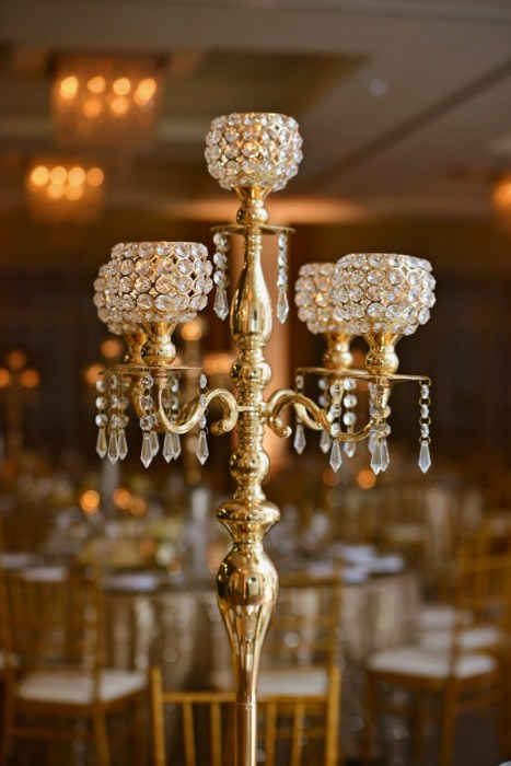 samantha-&-callum-easts-leagues-club-wedding-reception-styling-gold-diamante-candelabra-guest-table-centrepiece