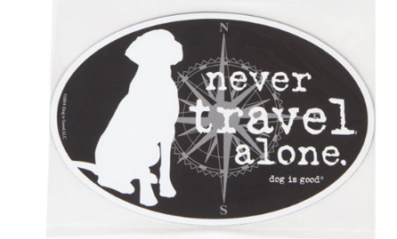 never travel alone car magnet at beautify the beast