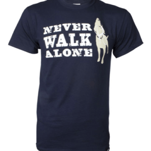never walk alone unisex navy shirt at beautify the beast