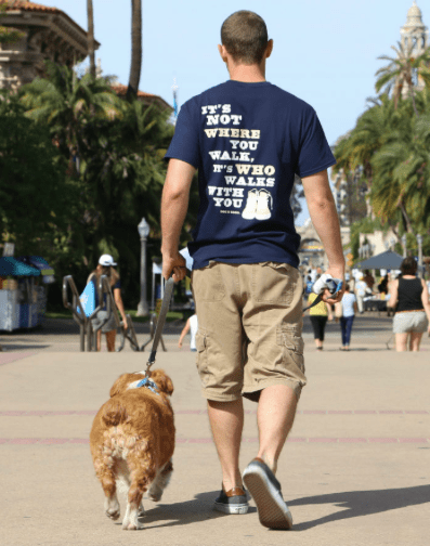 never walk alone unisex navy back at beautify the beast