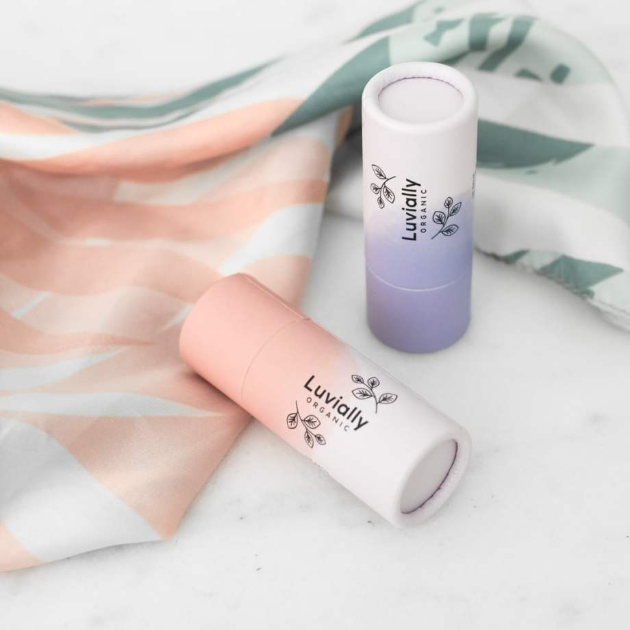 Luvially Organic Lip Balm Sweet Mandarin & Soft Sensitive huulivoiteet