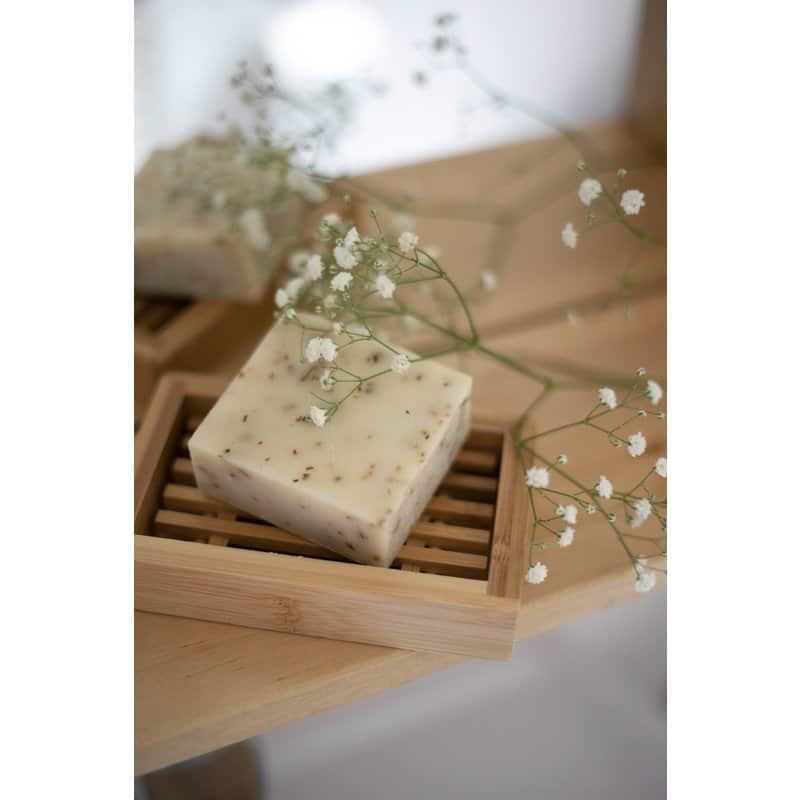 Bambu puinen saippuateline