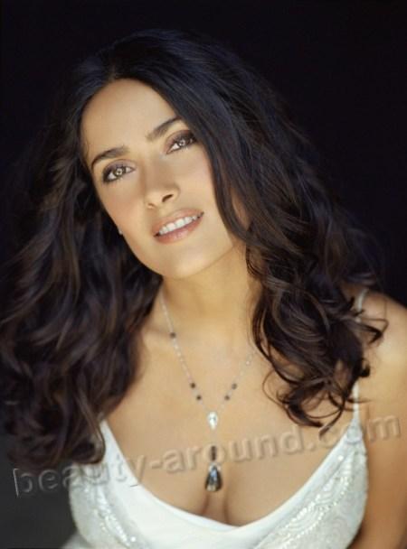 Salma Valgarma Hayek beautiful Mexican Hollywood actress photos