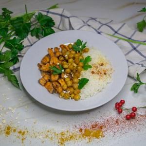 Curry de pois chiches et patates douces
