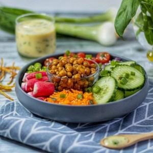 Recette salade composée vinaigrette vegan légère