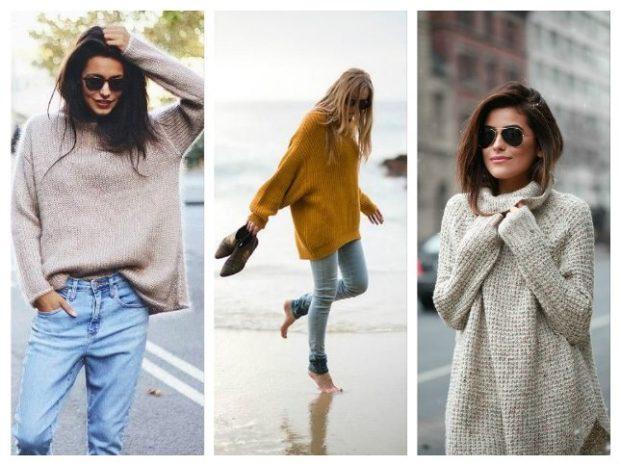 81c9cb6c99b1 Čo nosiť hustý sivý sveter. Čo sa nosí s jumperom (pletený sveter ...