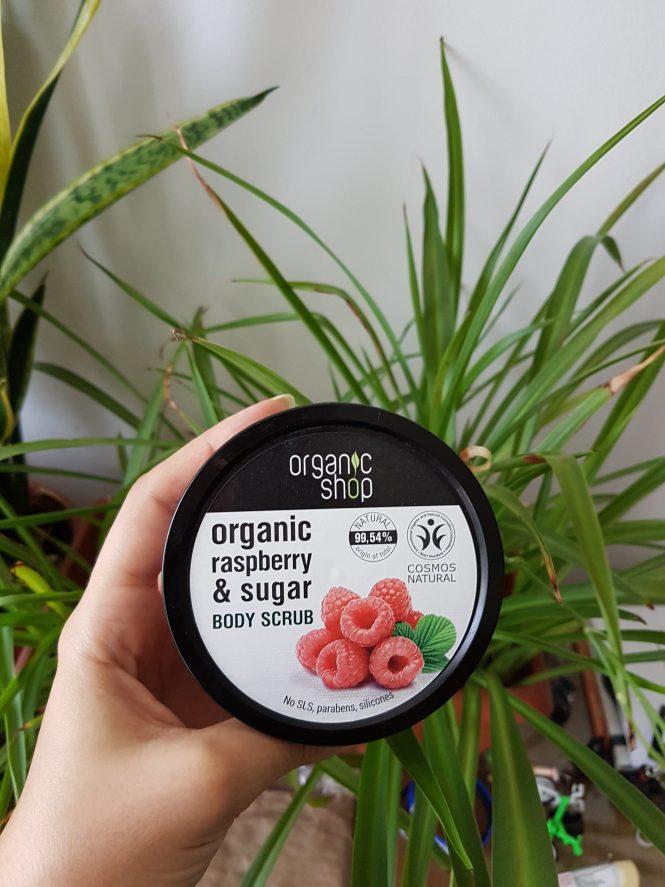 organic shop organic scrub raspberry sugar