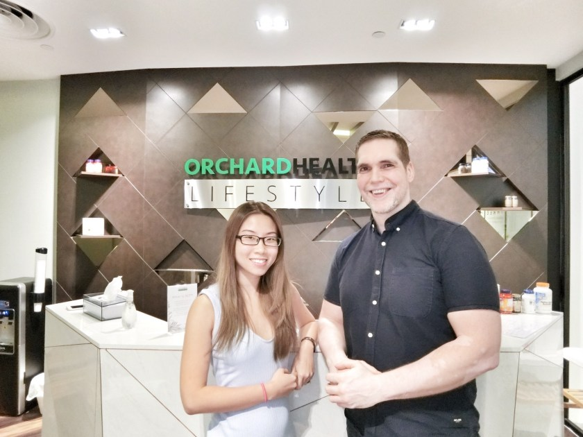 Osteopath Martin John and director Adela Yeo of the Orchard Health Clinic
