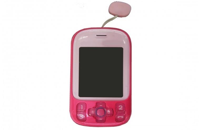 ピンクのキッズ携帯