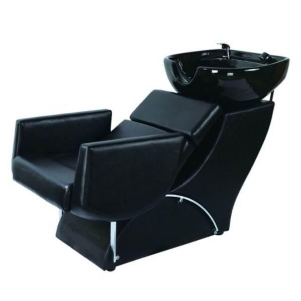 HL Λουτήρας Κομμωτηρίου 32957 Μαύρο Κάθισμα με Λευκή Λεκάνη