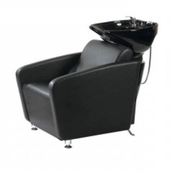 HL Λουτήρας Κομμωτηρίου 32980 Μαύρο Κάθισμα με Λευκή Λεκάνη