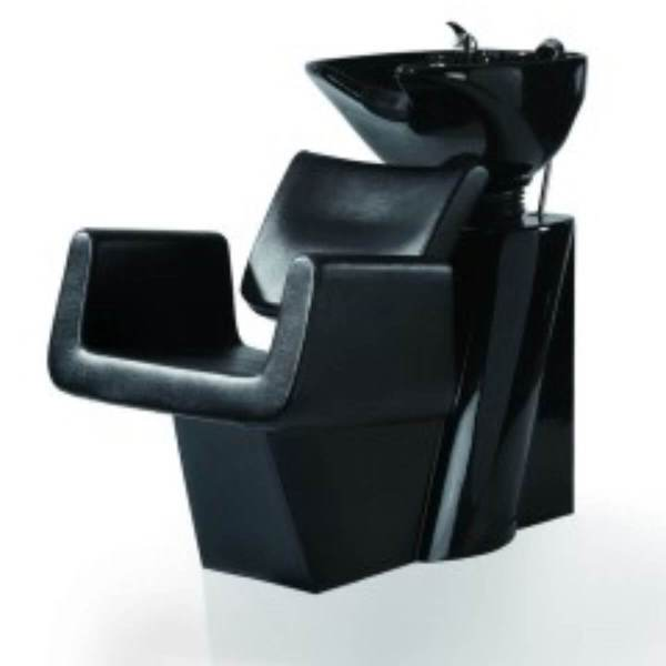 HL Λουτήρας Κομμωτηρίου 8022 Μαύρο Κάθισμα με Λευκή ή Μαύρη Λεκάνη