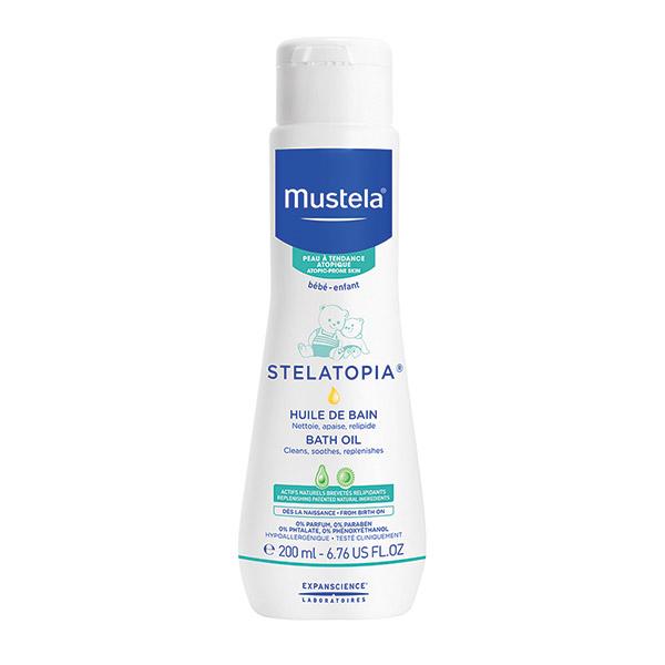 Mustela Stelatopia ulei de baie pentru pielea cu tendință atopică 200 ml