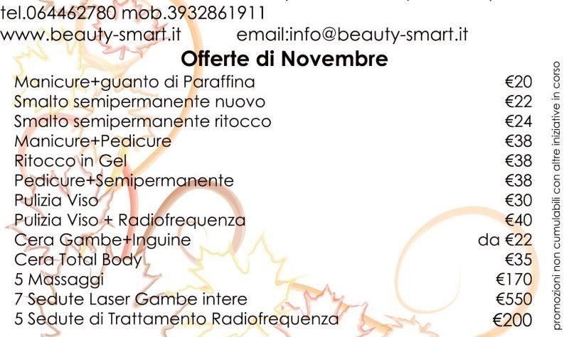 promozioni Novembre 2017 centro estetico roma stazione termini