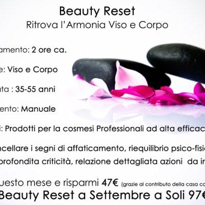 Offerta lancio Beauty Reset