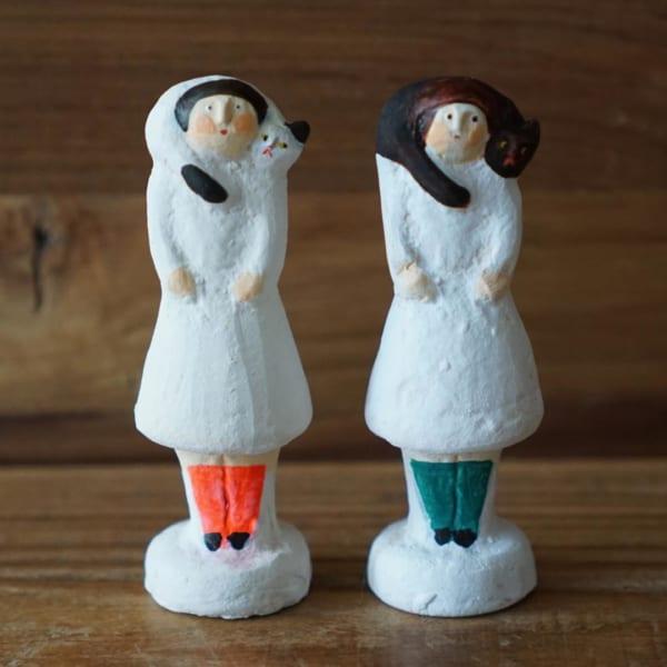 ほっこりする陶器人形