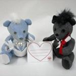 バレンタインに ホワイトデイに 大切なメッセージを伝えるベア