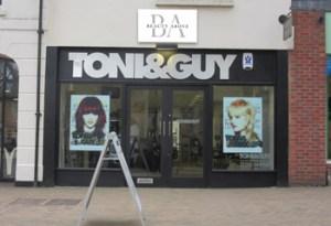 Beauty Above, above TONI & GUY Banbury
