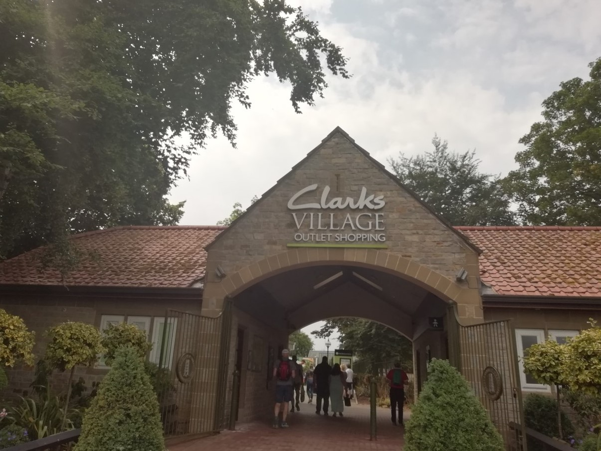 Entrance to Clarks Village