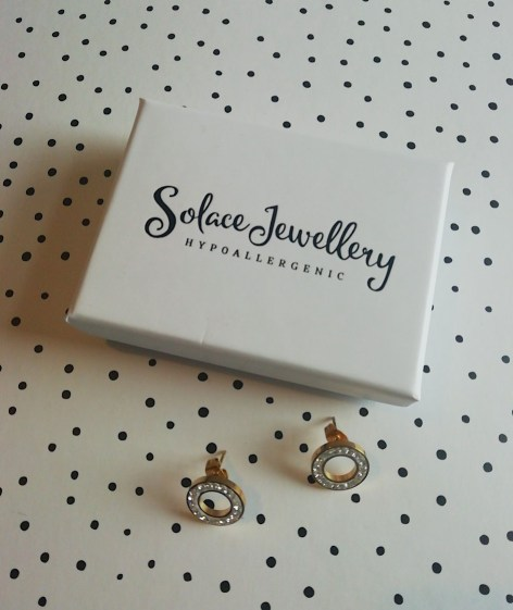 Solace Gold Stud Earrings