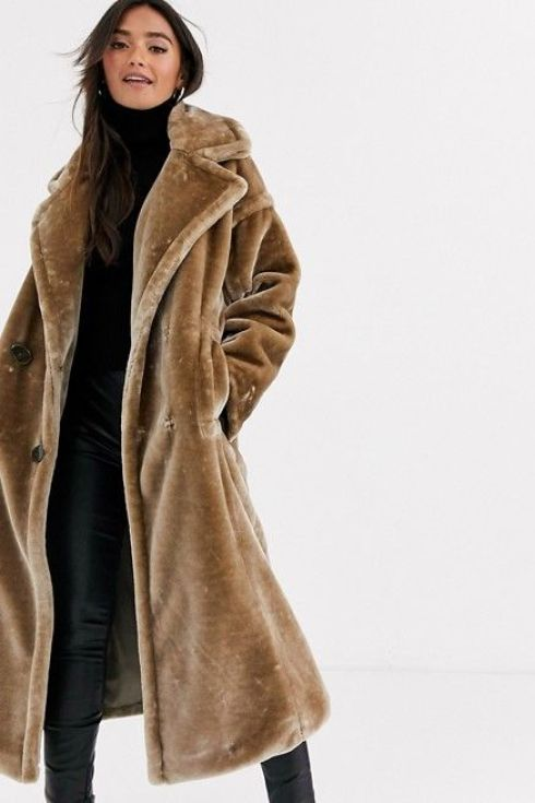 Faux Fur Maxi coat from ASOS