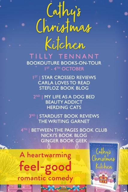 Cathy's Christmas Kitchen full Blog Tour Banner