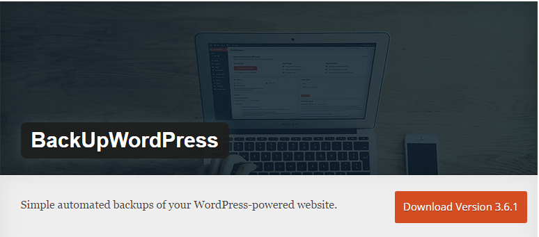 backupwordpress wordpress plugin for protection and maintenance